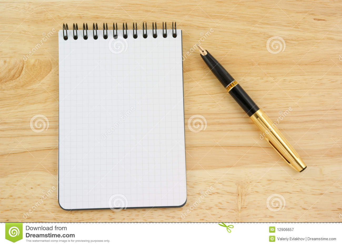 Pen And Blank Note Pad Stock Image Image Of Card Still