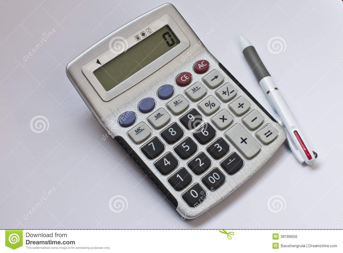 Pen And Calculator Royalty Free Stock Image Image 38189656