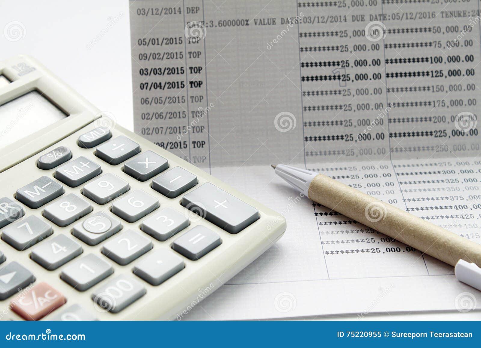 Pen And Calculator On Savings Account Passbook Photo Image – Savings Account Calculator
