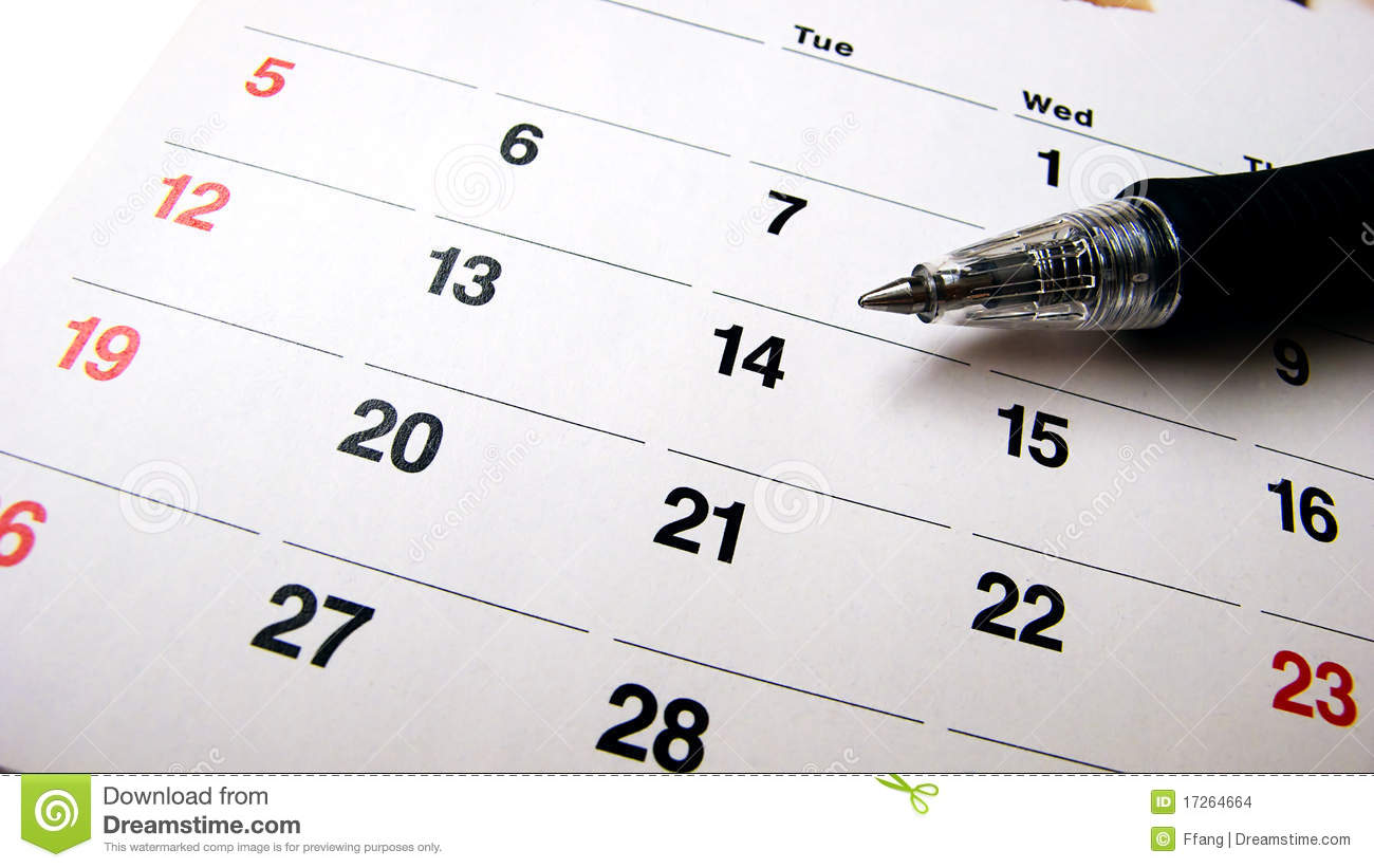 Pen And Calendar Stock Images Image 17264664