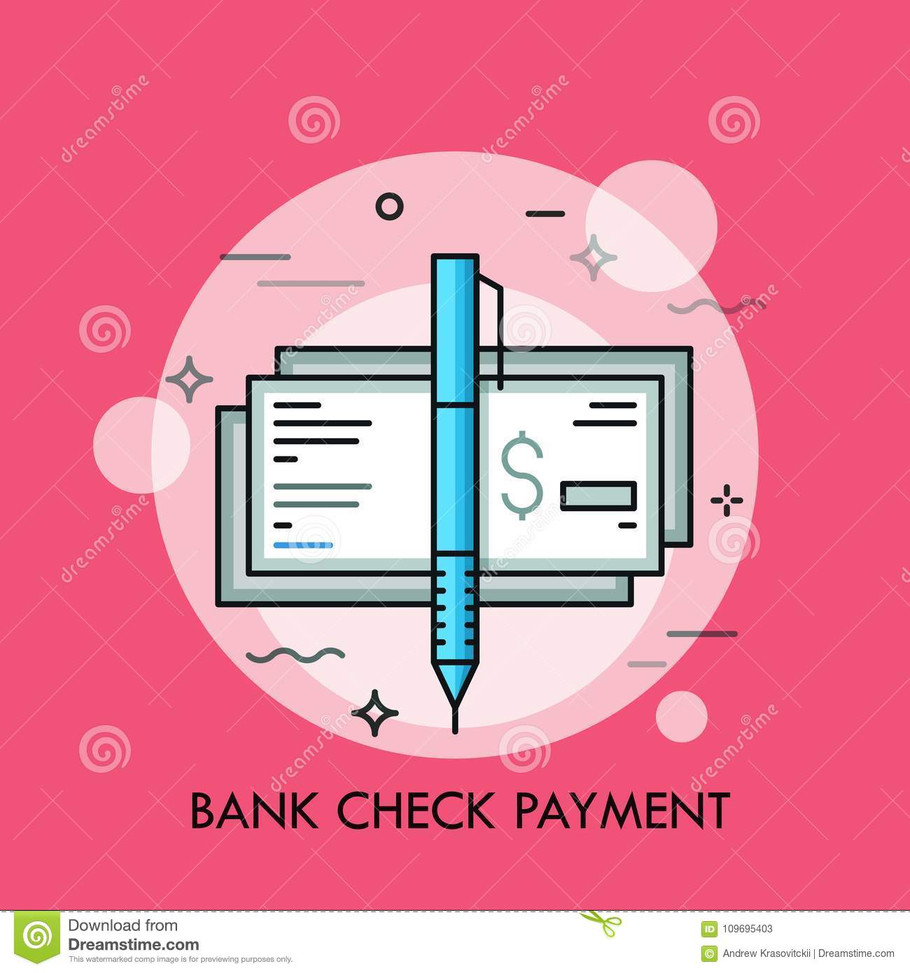 Pen And Cashier S Check With Dollar Sign Traditional Payment Method