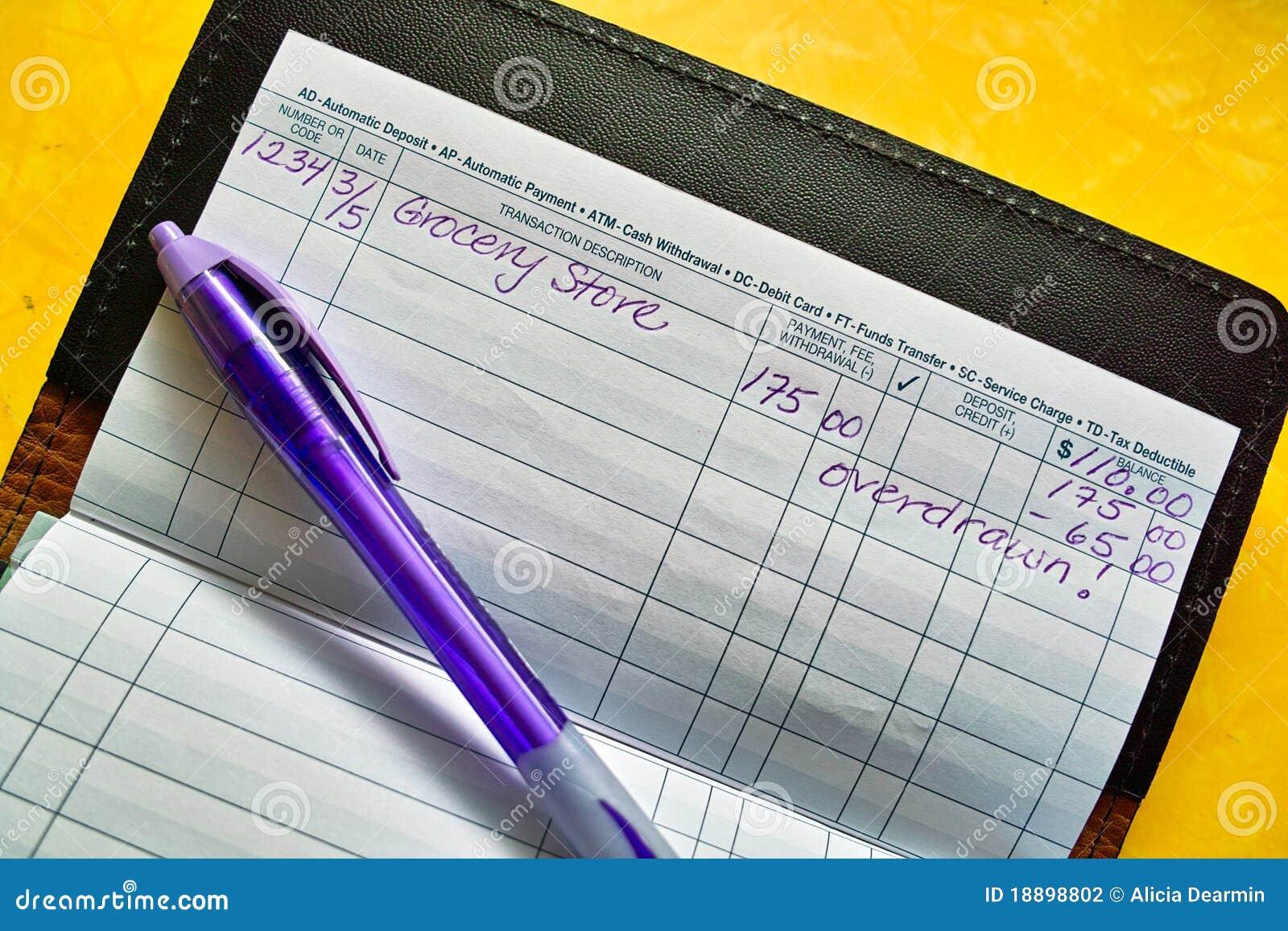 checkbook record