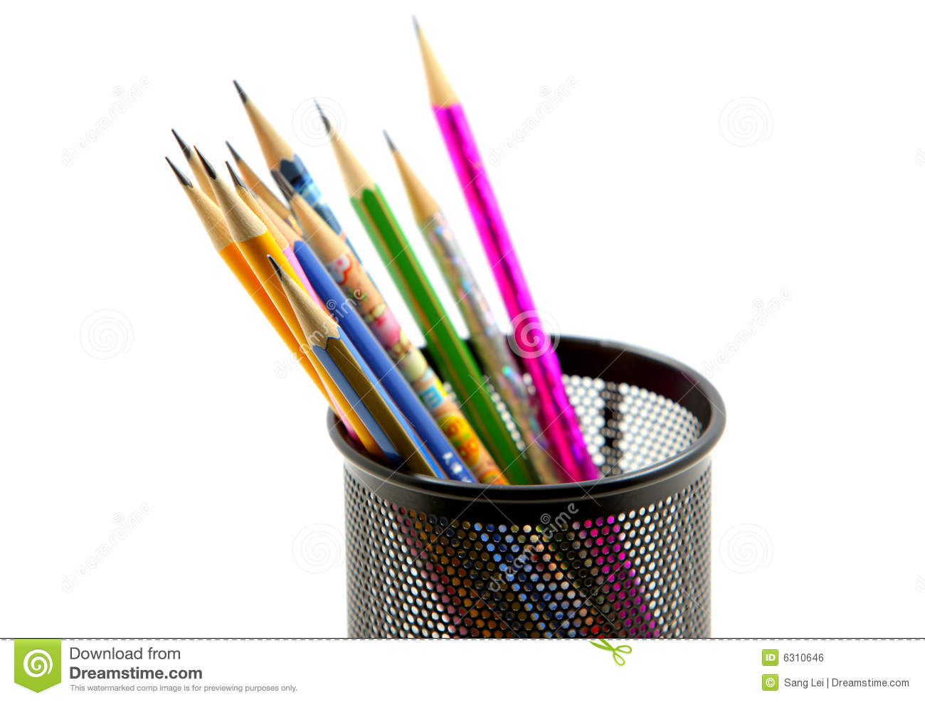 pen container stock photo  image of tools  pencils  objects