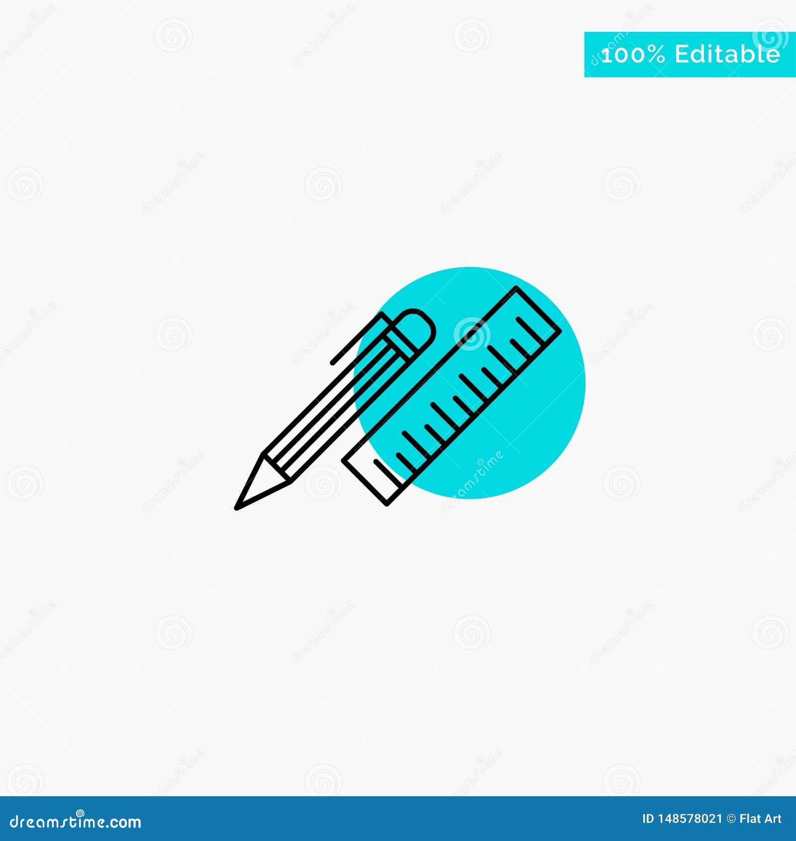 Pen Desk Organizer Pencil Ruler Supplies Turquoise Highlight