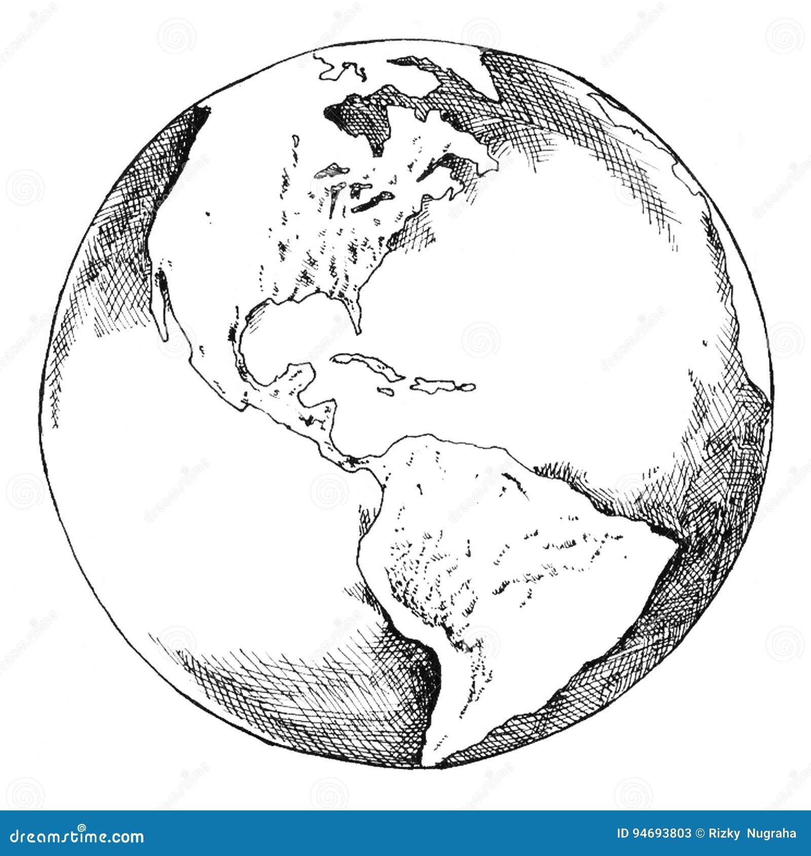 Глобус нарисовать своими руками