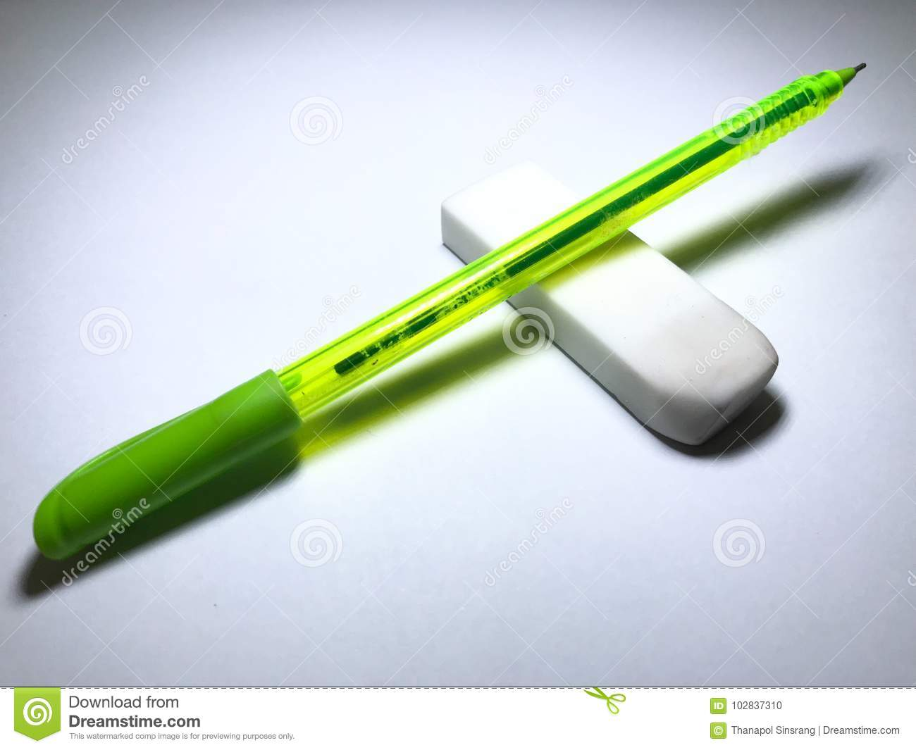 Download pen and eraser stock photo image of idea grunge drawing 102837310