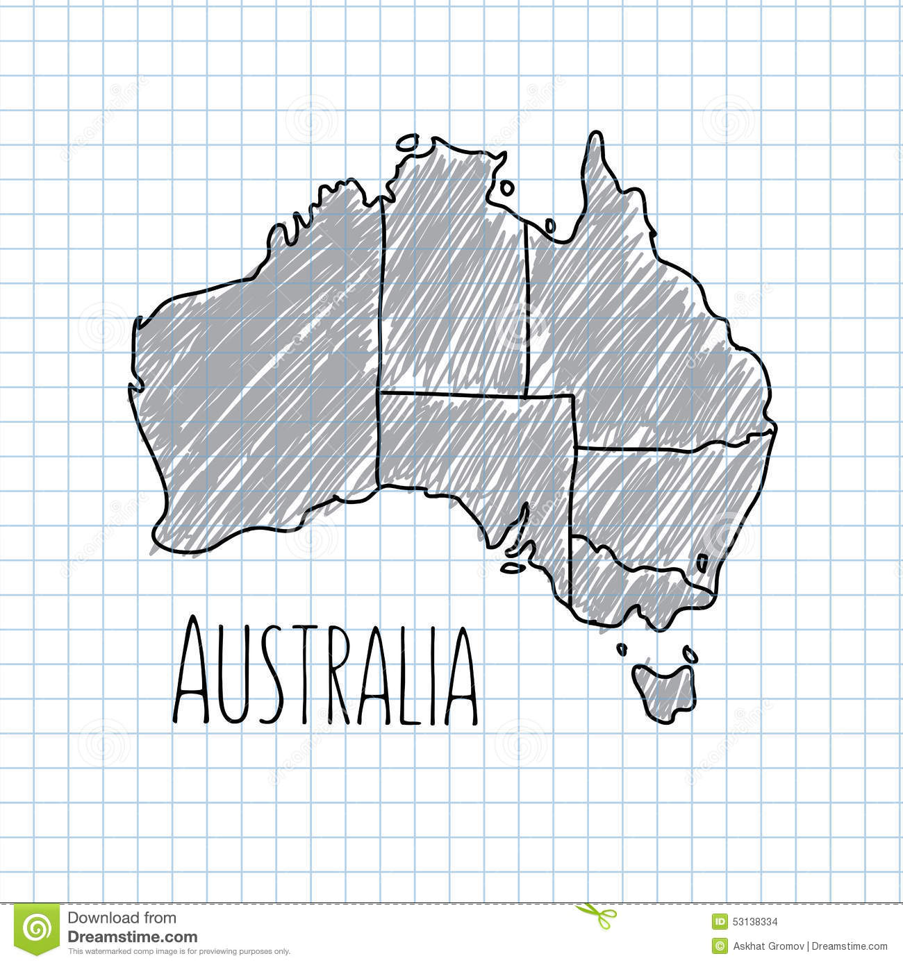 Hand Drawn Doodle Sketch Political World Map And Stock Vector - Map of us drawn by australian