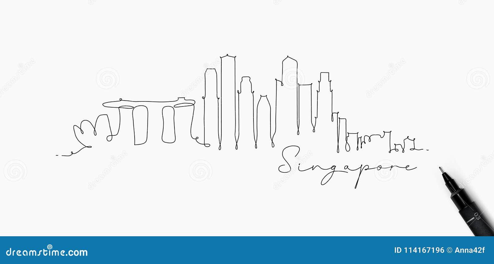 Pen line silhouette singapore