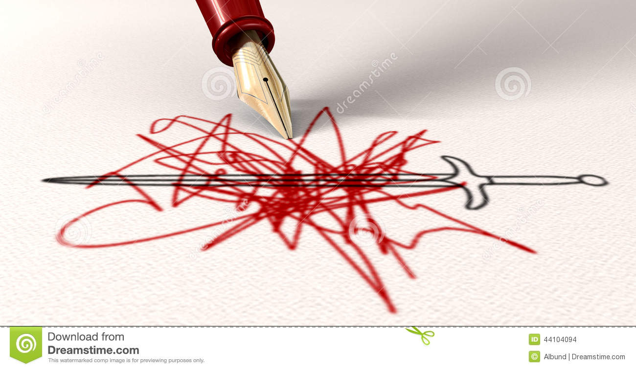 pen is mightier than the sword stock illustration image  pen is mightier than the sword