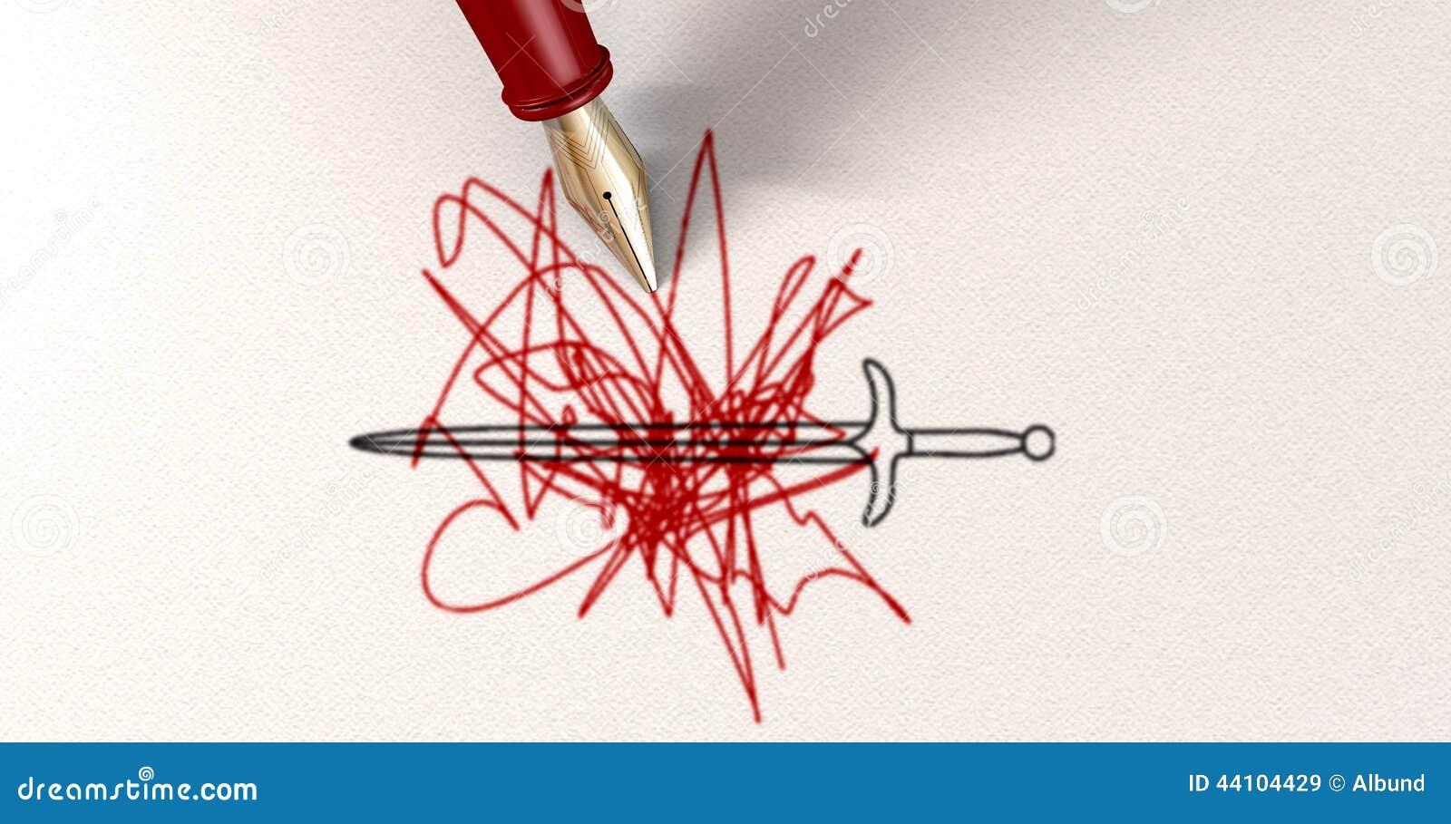 pen is mightier than sword essay the pen is mightier than the sword cartoons and comics funny asr world wordpress com essay