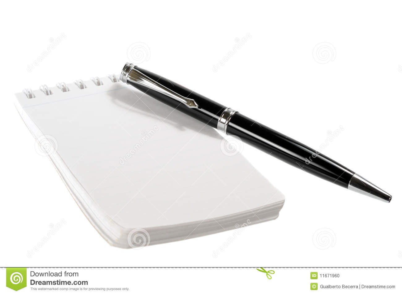 Pen And Notepad Stock Photo - Image: 11671960