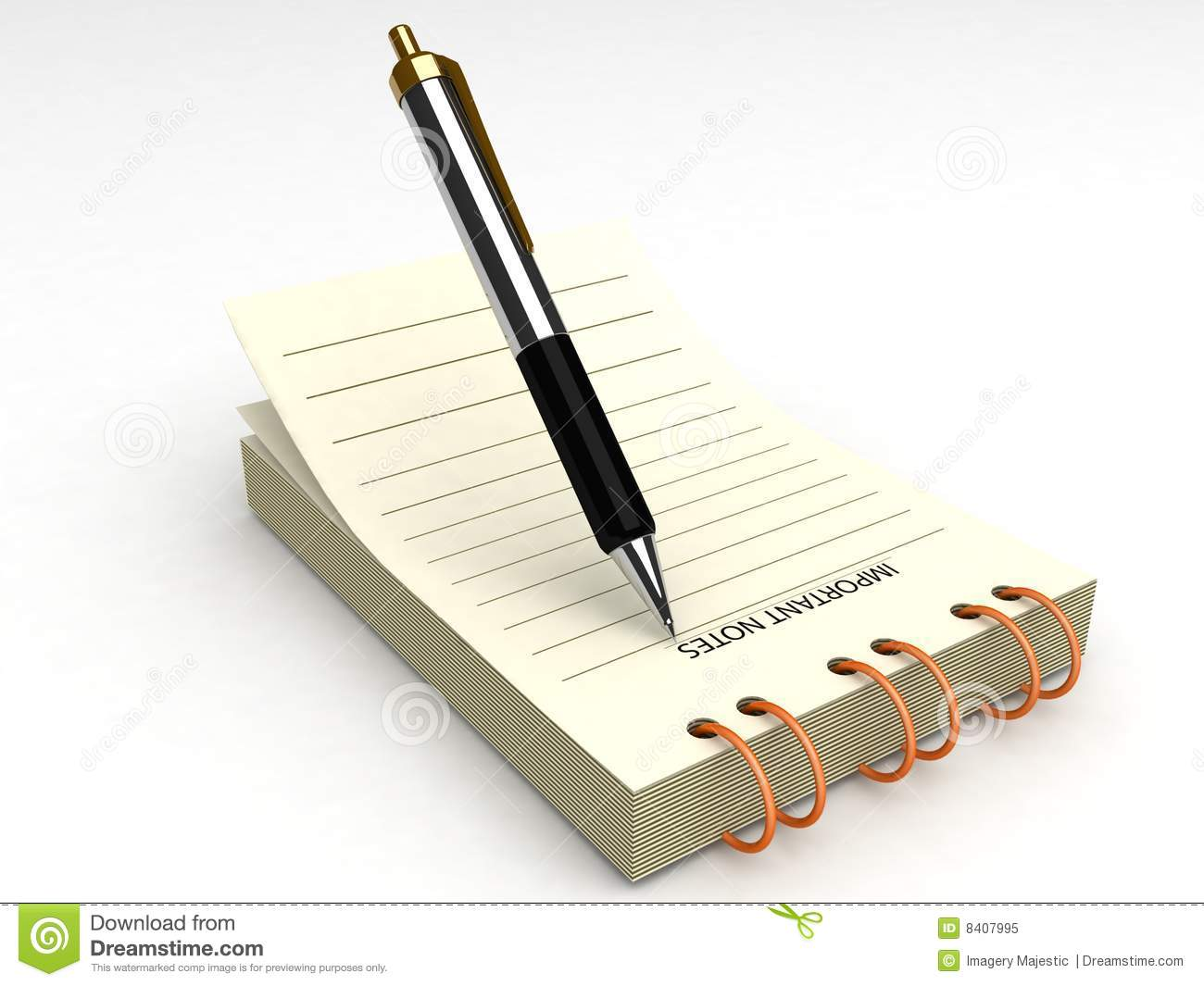 Pen And Notepad Royalty Free Stock Photo - Image: 8407995