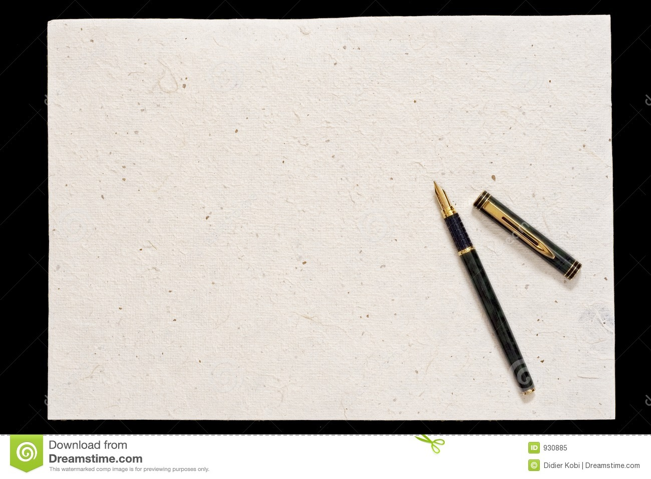 Pen And Old Paper Stock Image. Image Of Handwritten, Paper