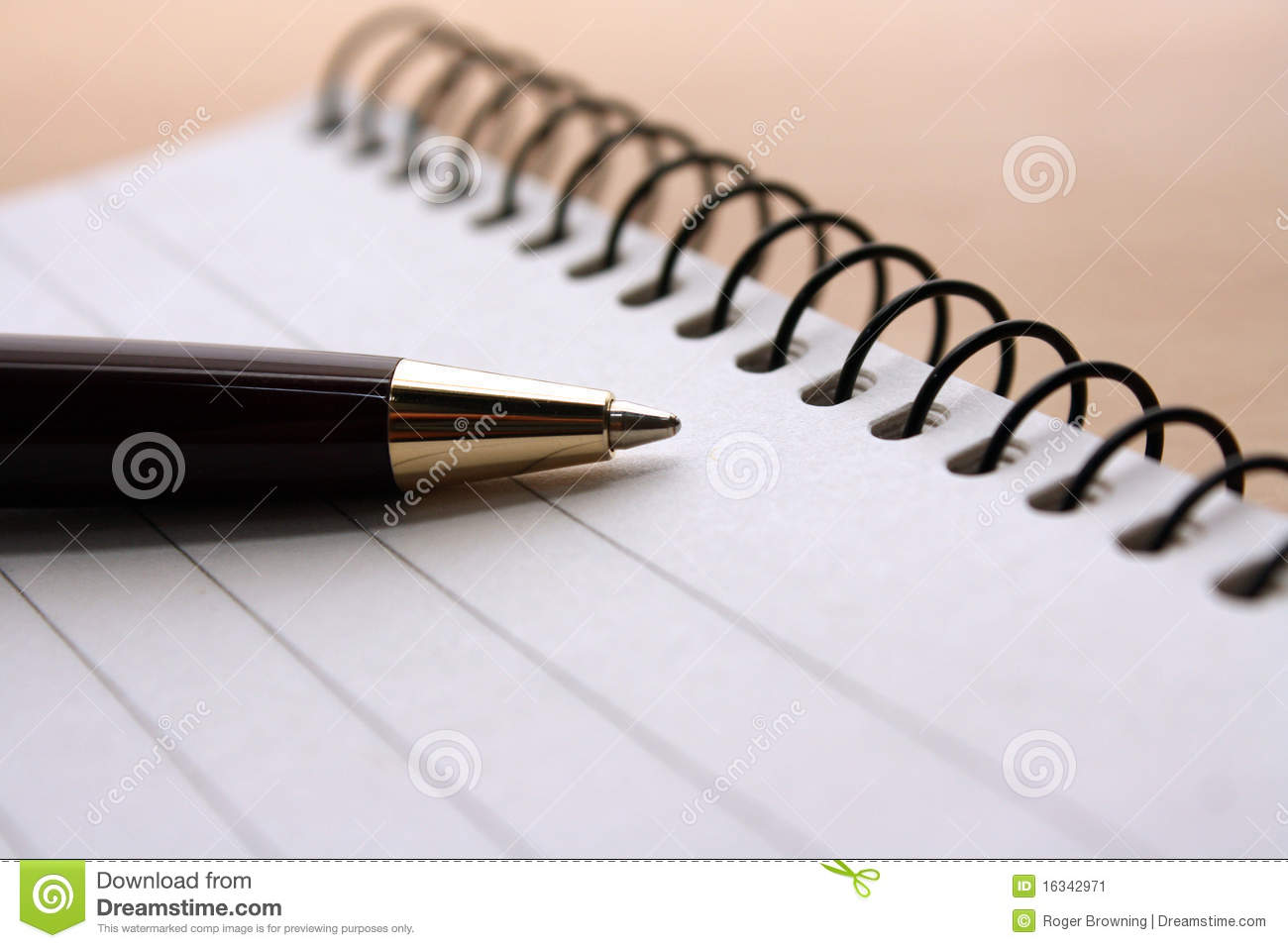 pen and pad stock image image of write page notepad