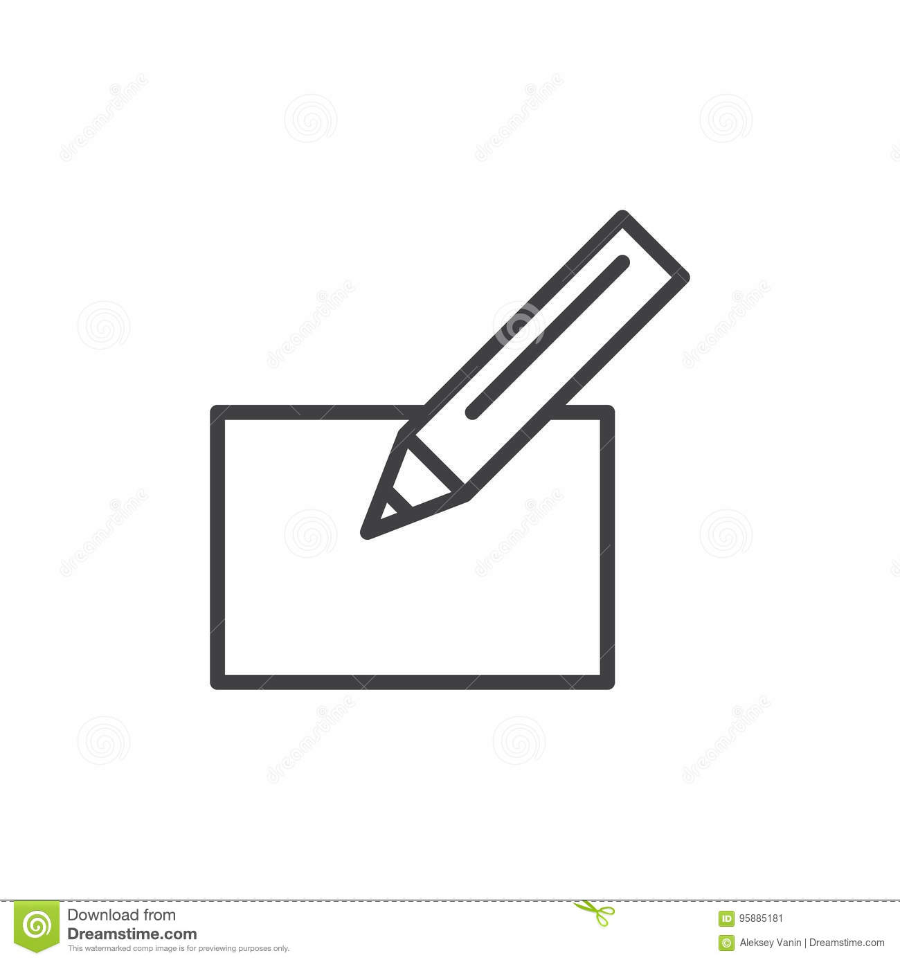 Pen and paper line icon outline vector sign linear style pen and paper line icon outline vector sign linear style pictogram isolated on white biocorpaavc Choice Image