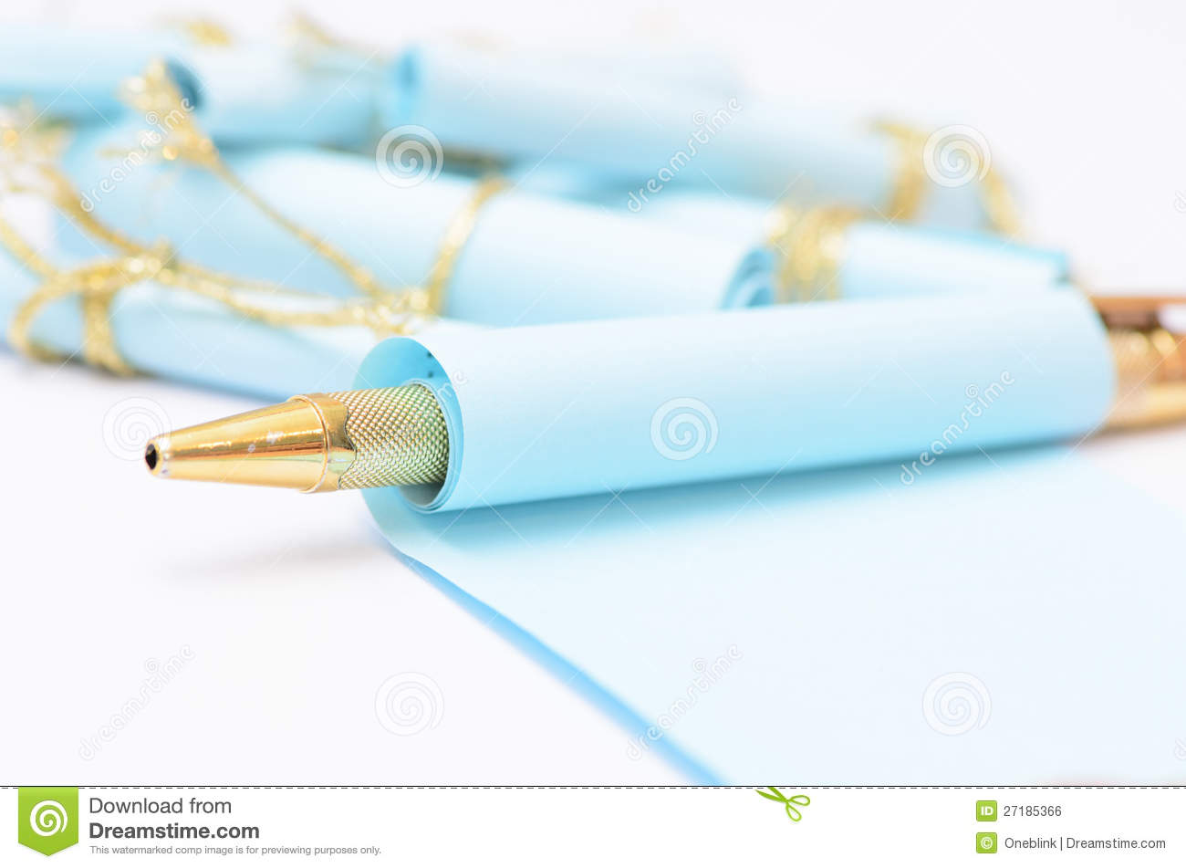 Pen with Paper Rolls