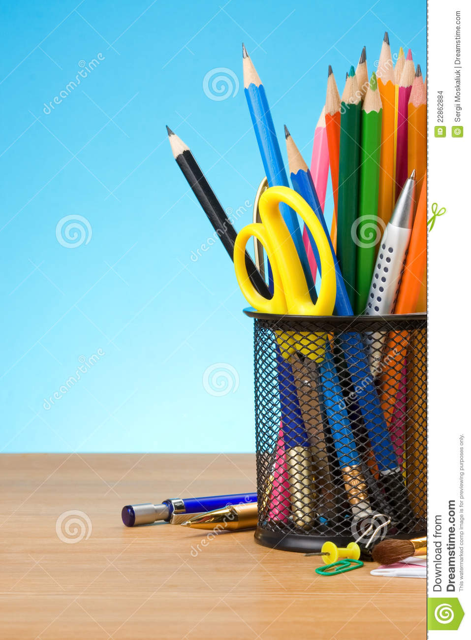 Pen and pens in holder