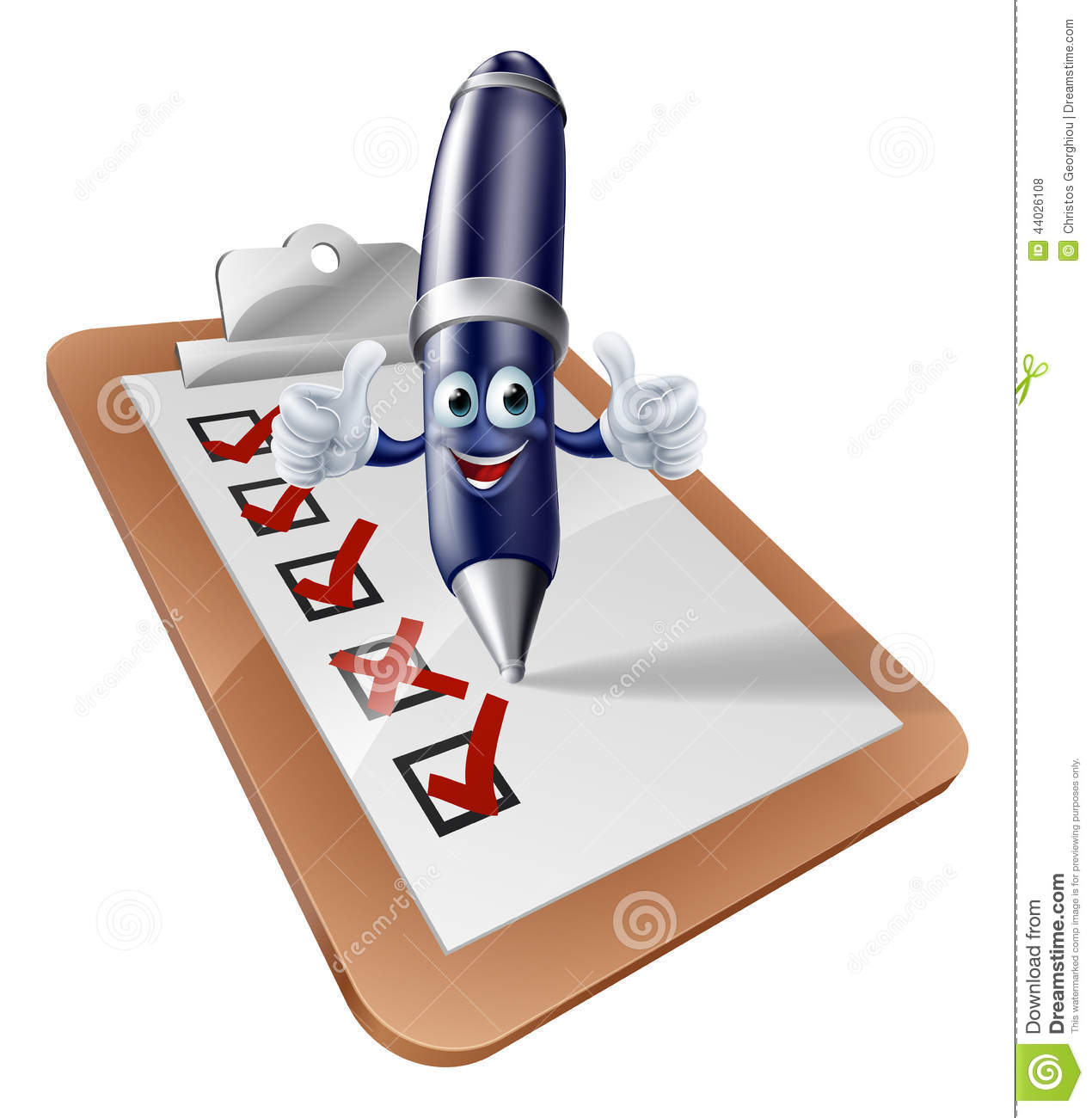 in person surveys pen person and clipboard survey stock vector image 44026108 1669