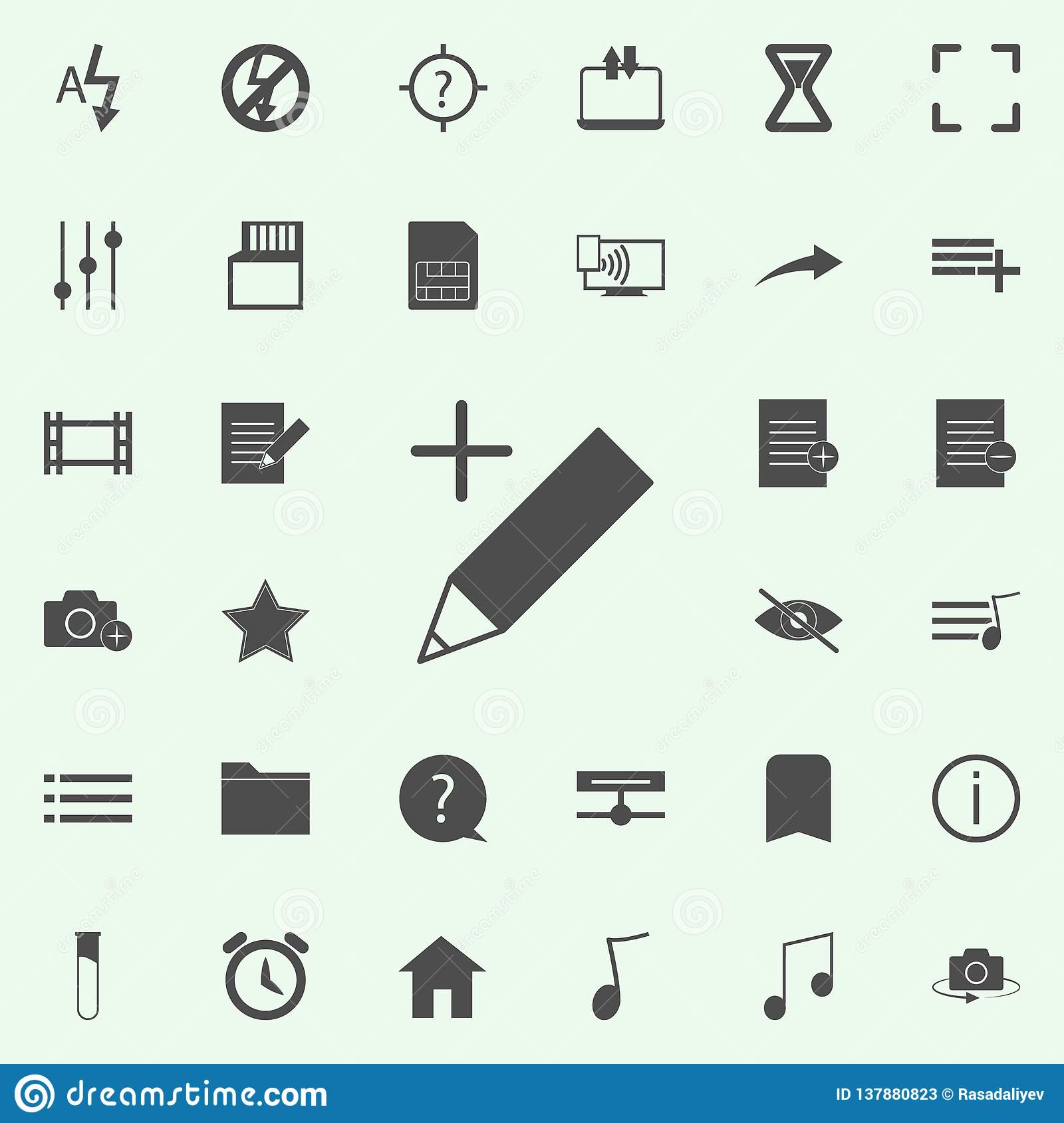 pen plus icon. web icons universal set for web and mobile
