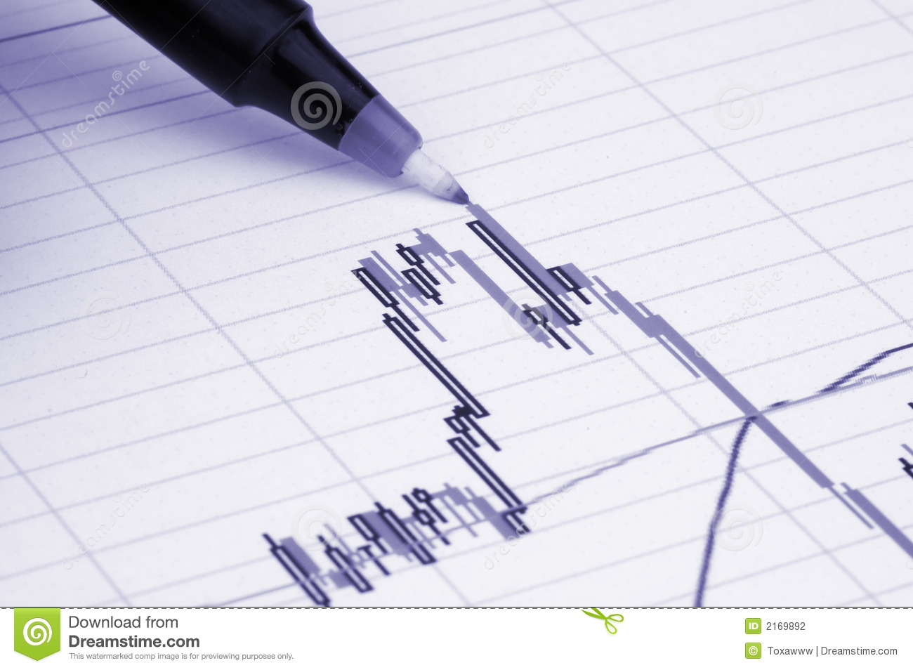 Pen Showing Diagram Stock Photography