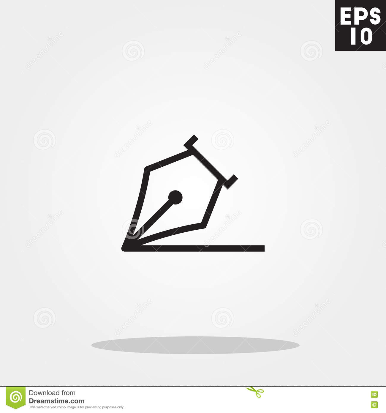 Pen write icon in trendy flat style isolated on grey background pen write icon in trendy flat style isolated on grey background pen write symbol for your design logo ui vector illustration biocorpaavc Choice Image