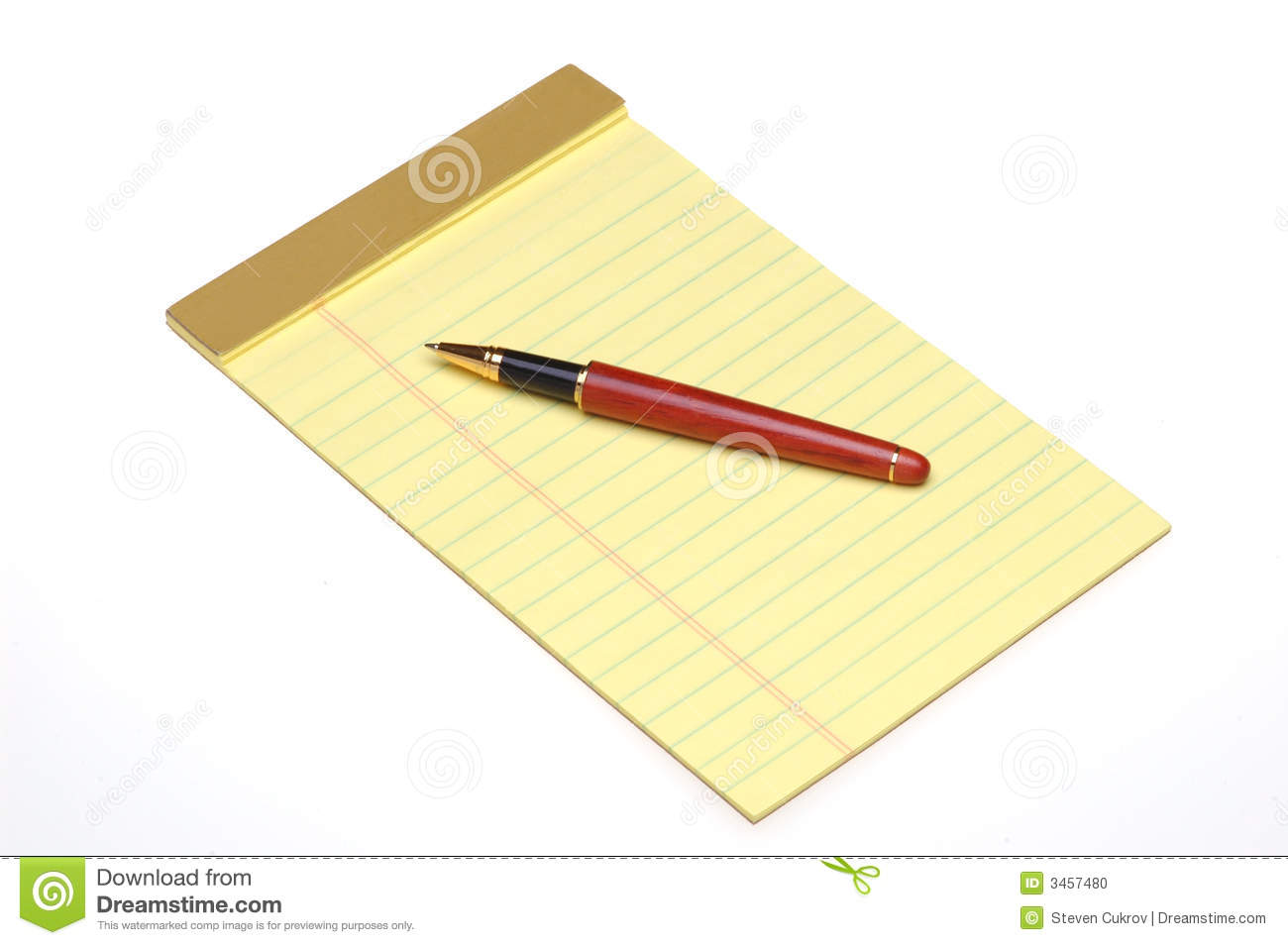 Pen Yellow Pad Lined Legal Stock