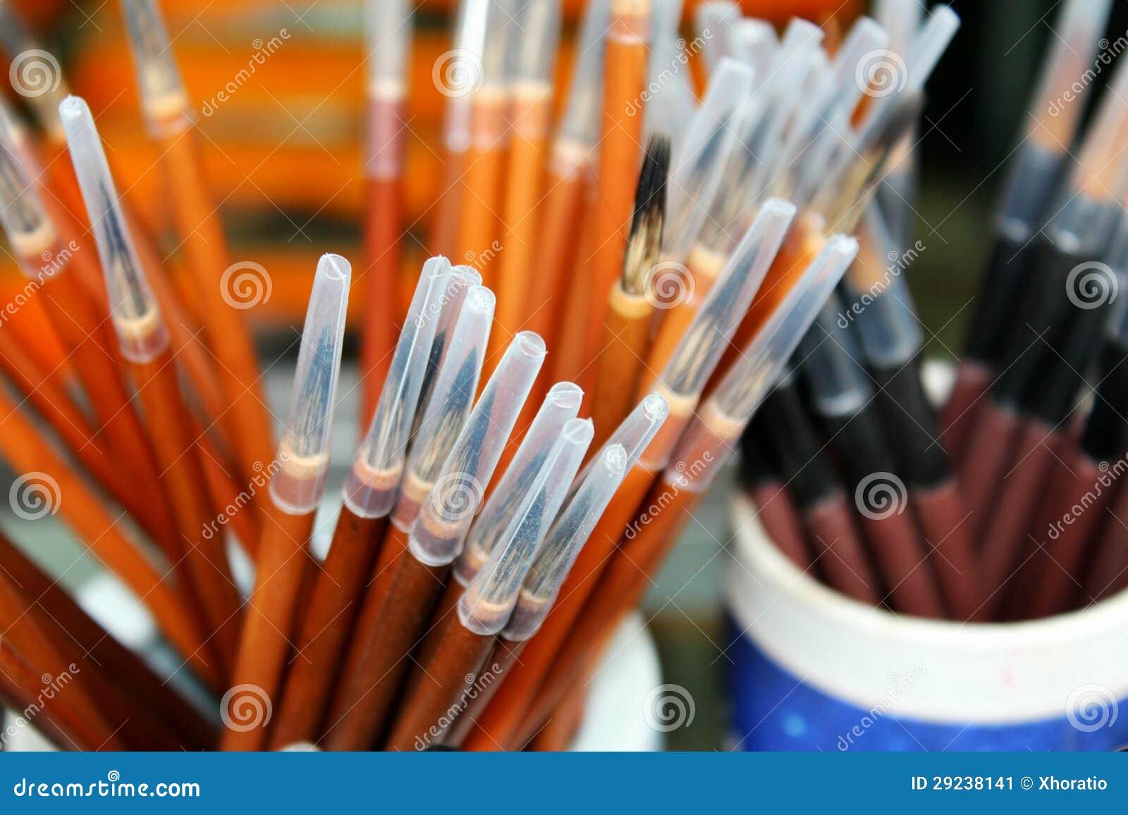 Download Pena da escova imagem de stock. Imagem de asian, escova - 29238141