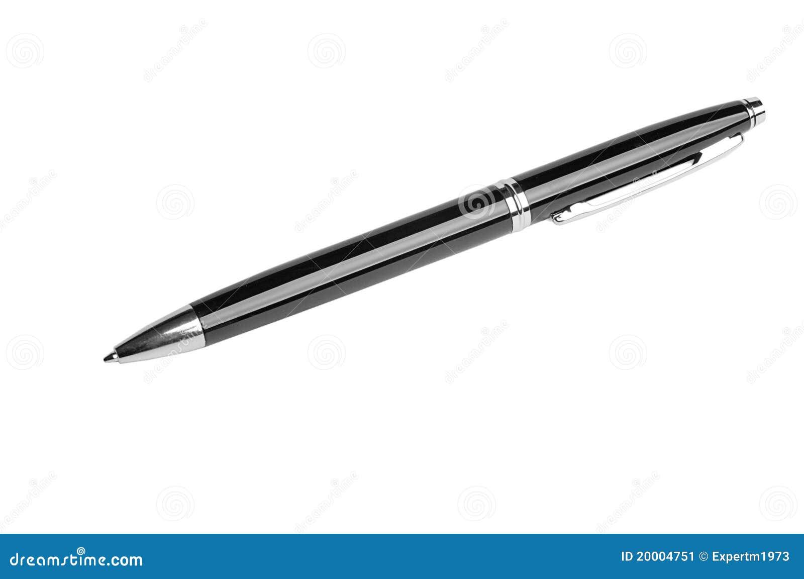 Pena de ballpoint preta
