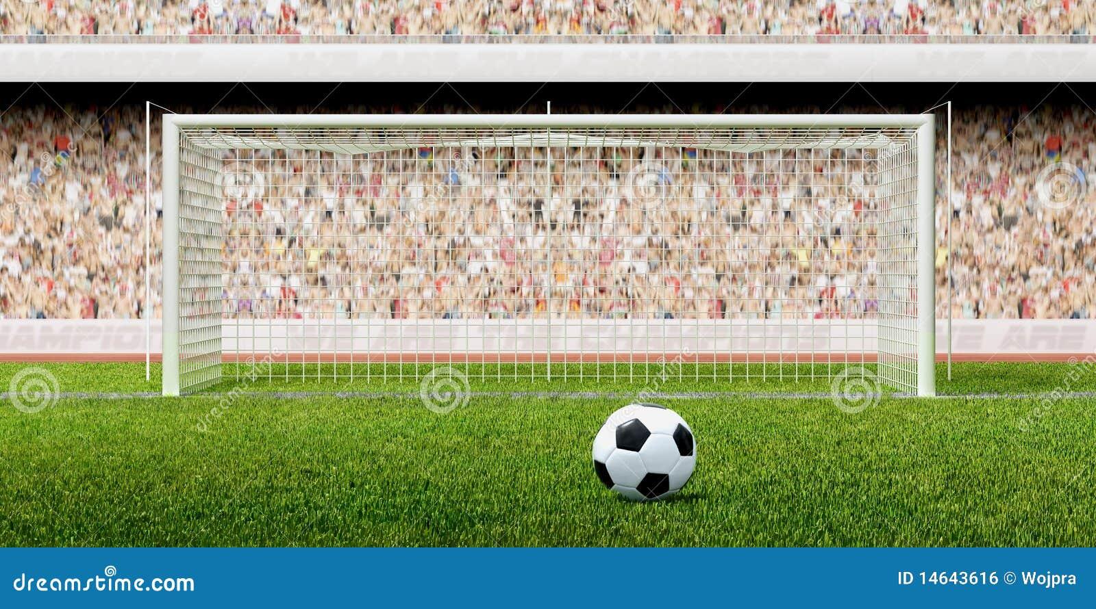 Pena di calcio di gioco del calcio nello stadio
