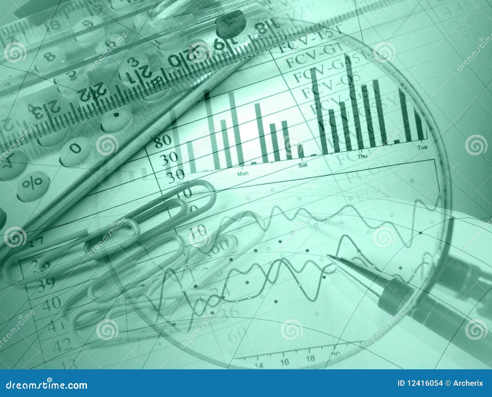Pena, régua, magnifier e calculadora (verde)