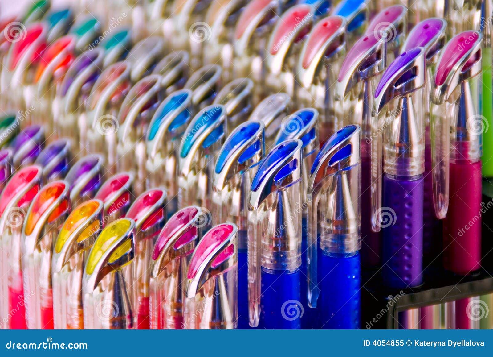 Penas coloridas do gel