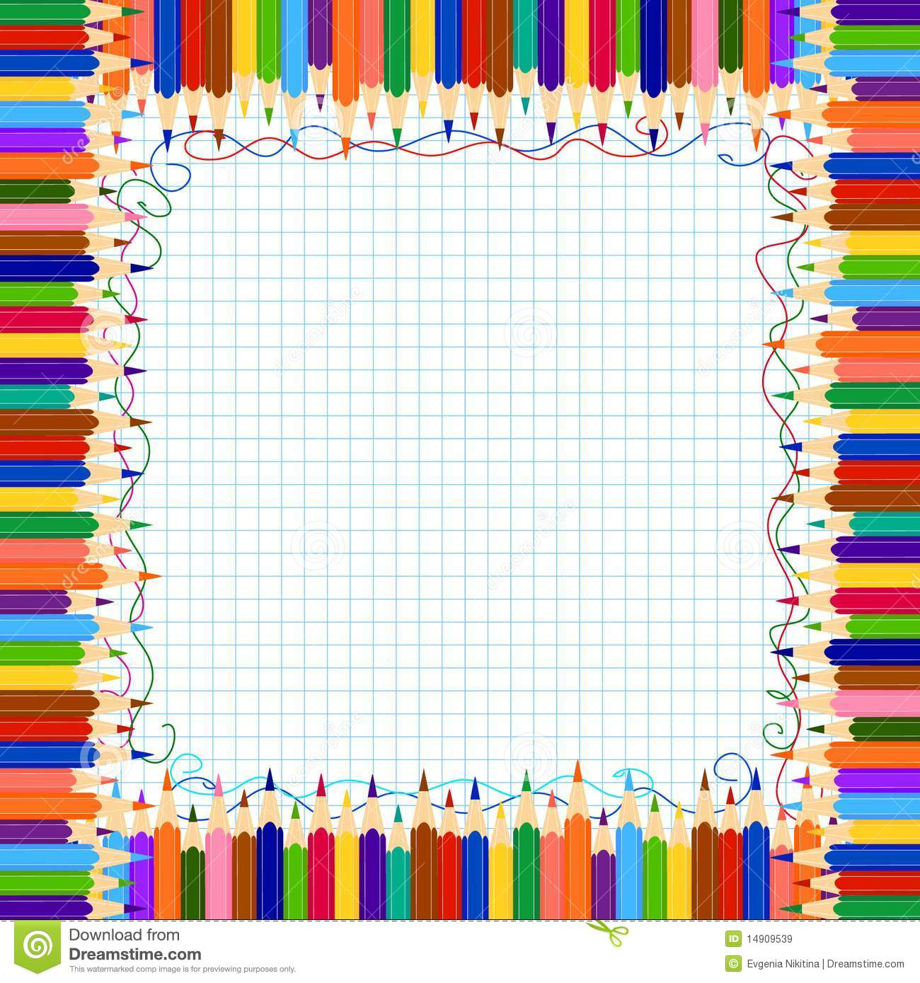 Pencil Border Royalty Free Stock Images - Image: 14909539