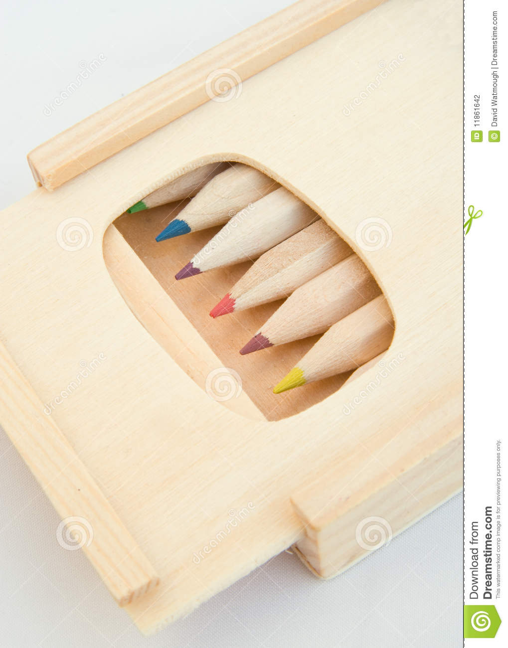 Pencil Box With Sliding Lid. Stock Photography - Image ...