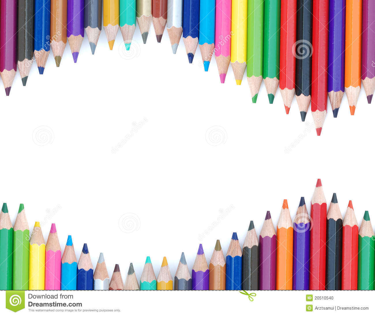 Pencil Color Background Stock Photo - Image: 20510540