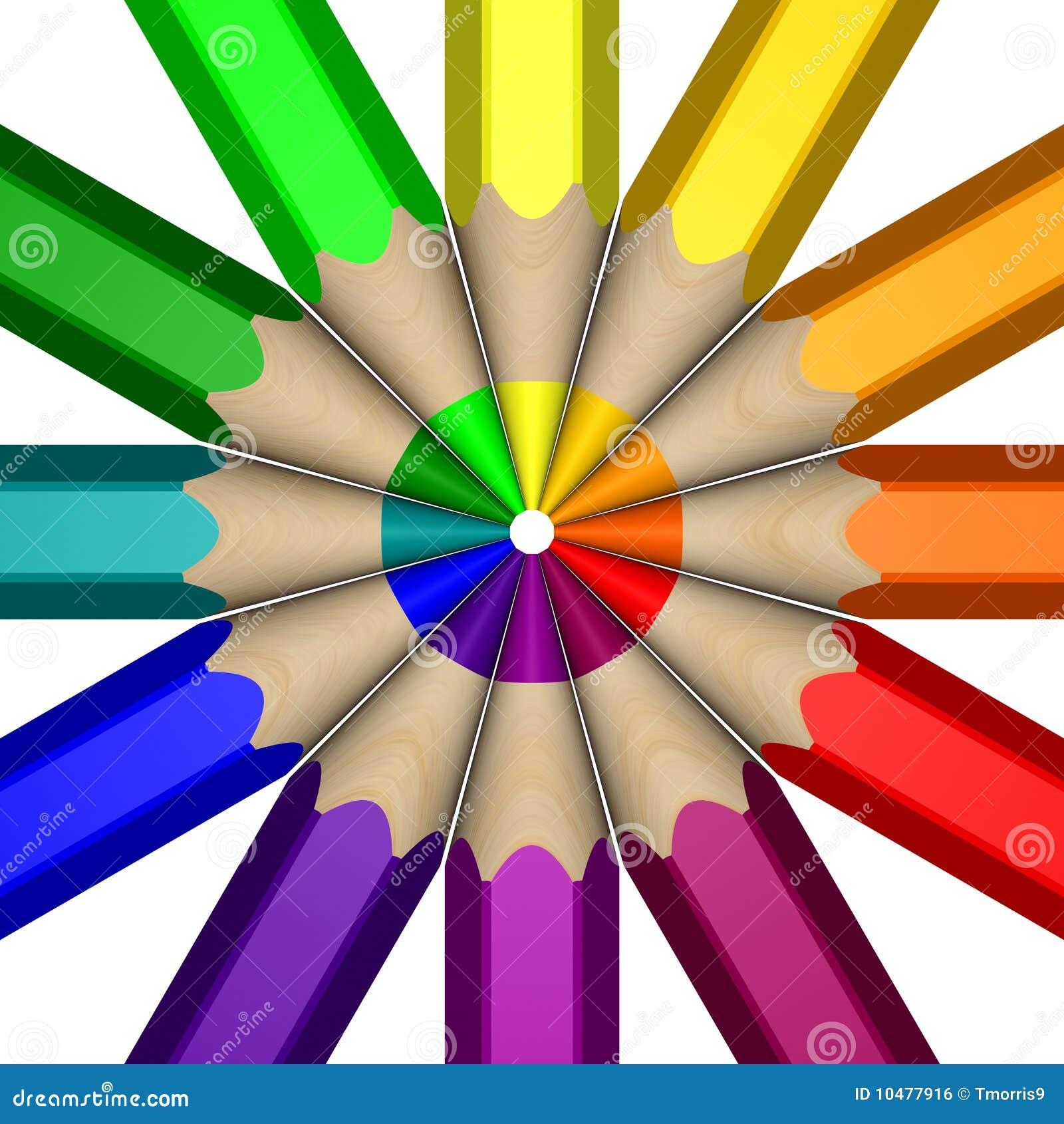 Pencil Color Wheel Stock Illustration Illustration Of Wood 10477921