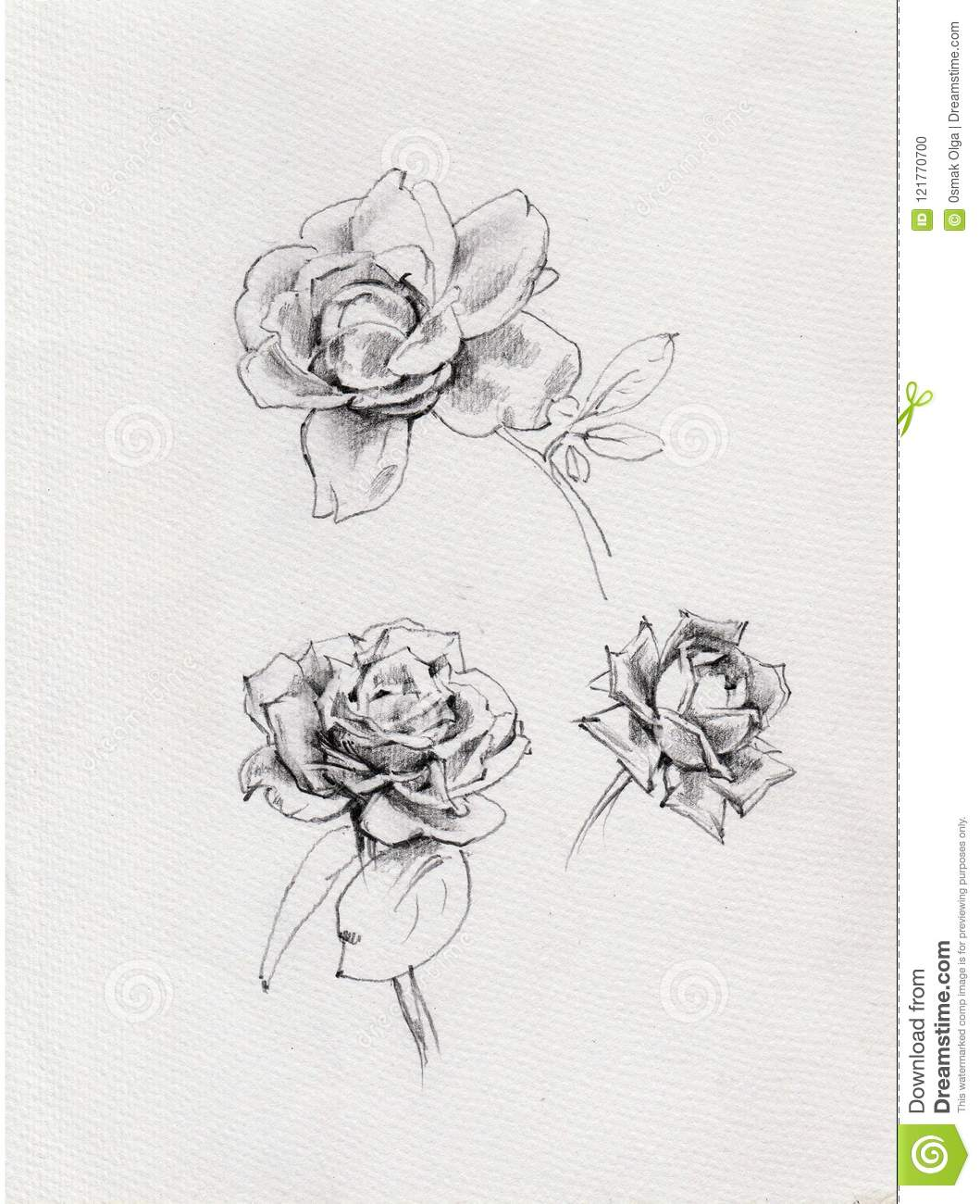 Pencil drawing background floral pattern handmade beautiful
