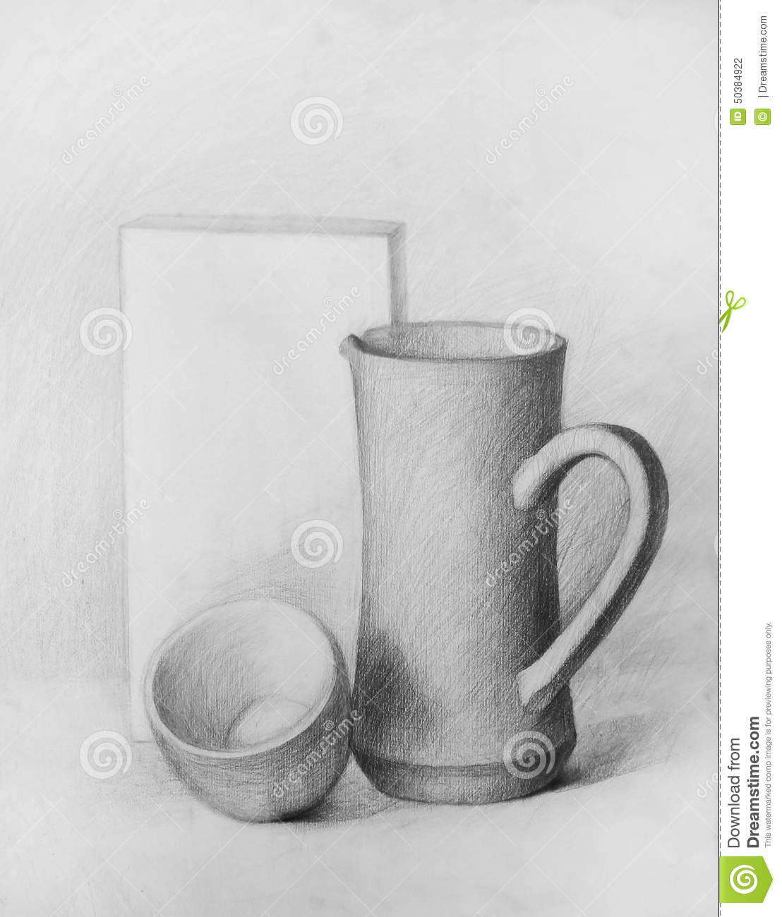 Pencil Drawing Composition Stock Illustration Illustration Of Studies Rectangle 50384922