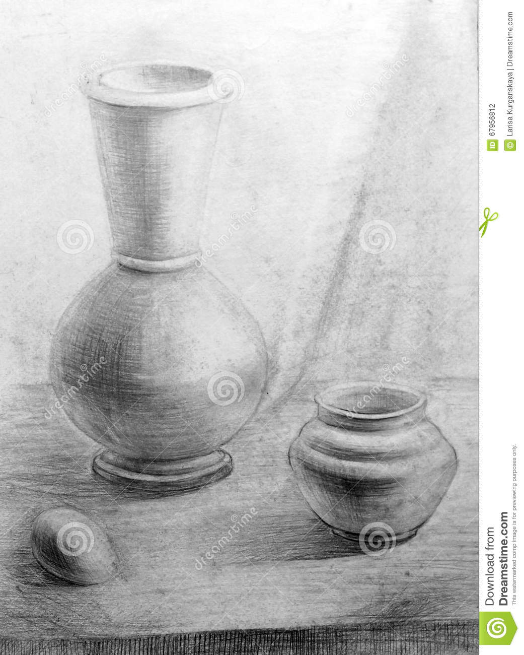 Pencil Drawing Still Life Nature Morte Stock Illustration Illustration Of Pencil Nature 67956812