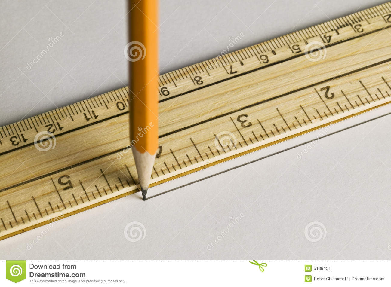 Drawing Lines With A Ruler Ks : Pencil drawing a straight line with ruler stock image
