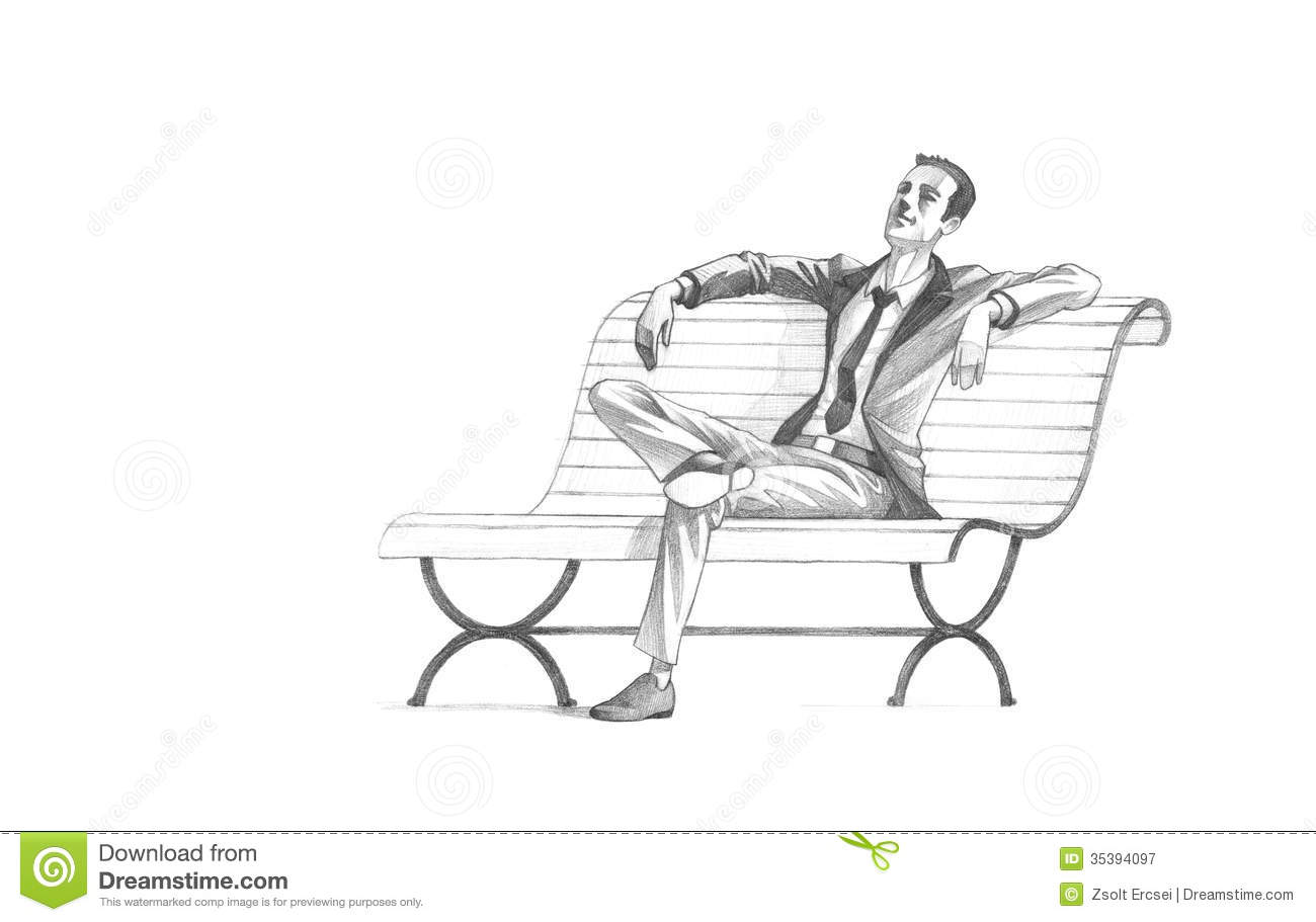 Jefferson Floor Plan Pencil Drawing Of Young Entrepreneur Taking A Relaxing