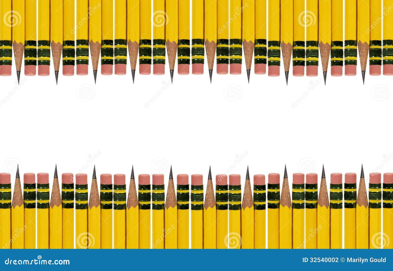 Pencil Eraser Border Yellow Pencil Border
