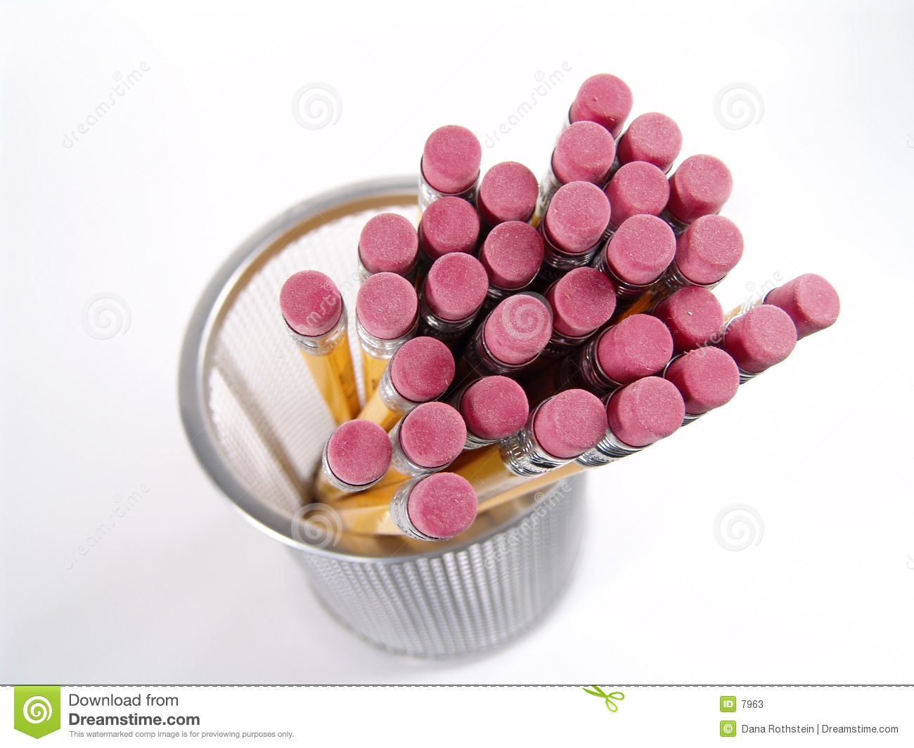 Download Pencil Erasers stock image. Image of sketch, office, pencils - 7963