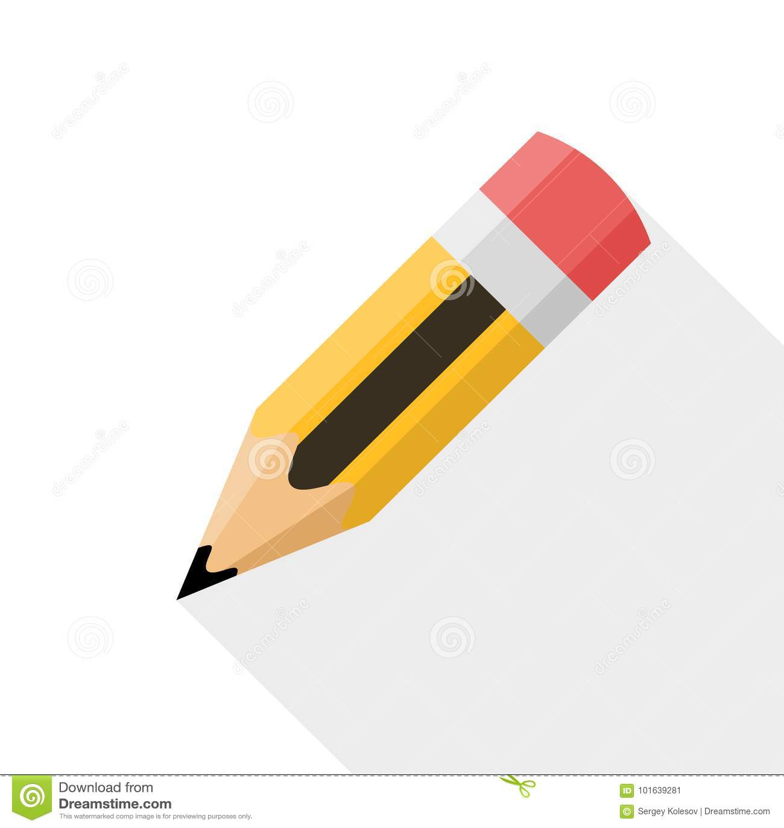 pencil flat design vector icon stock vector image