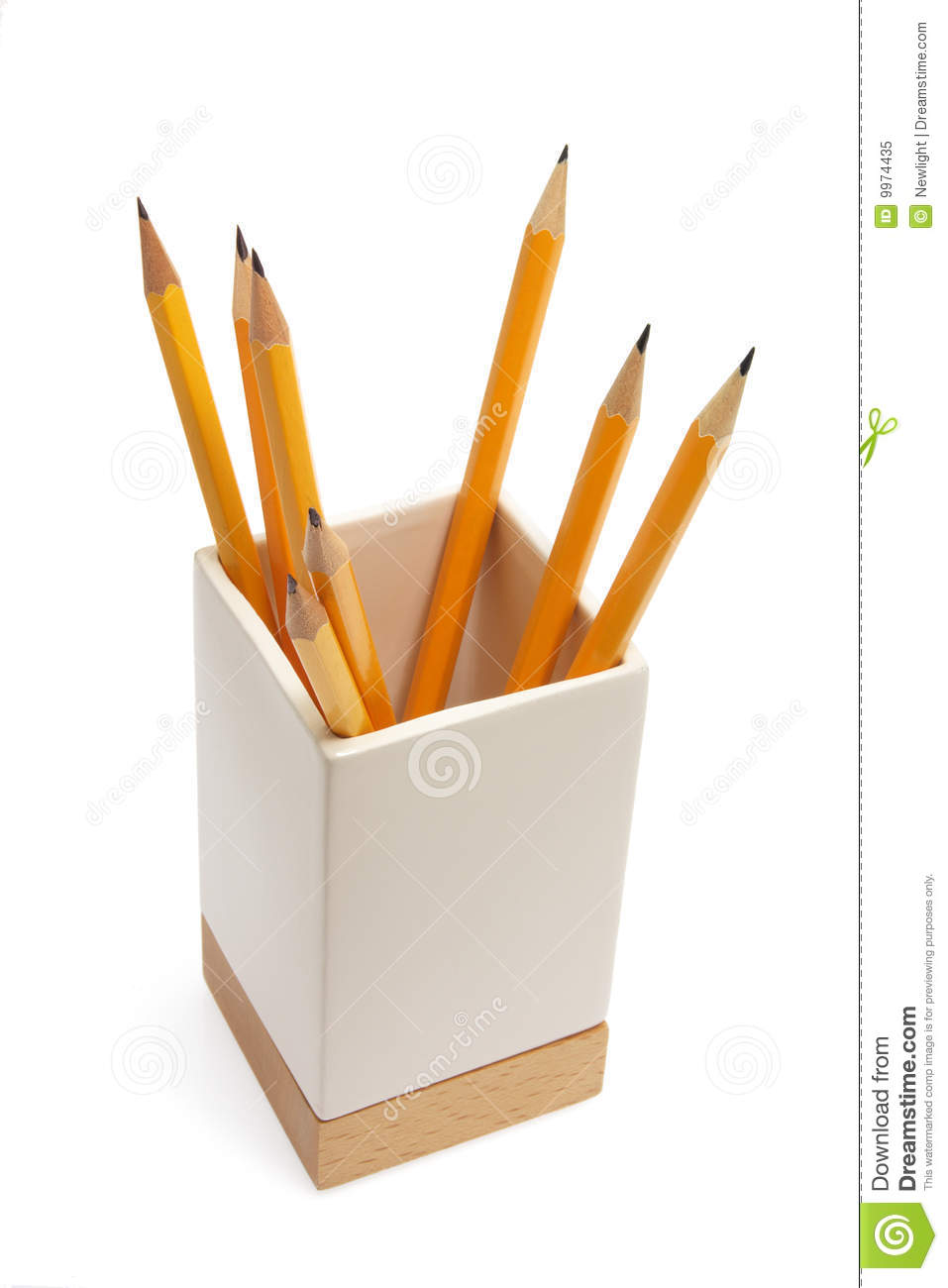 Pencil Holder Royalty Free Stock Photo Image 9974435