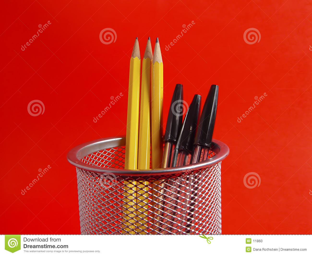 Pencil Holder on Red