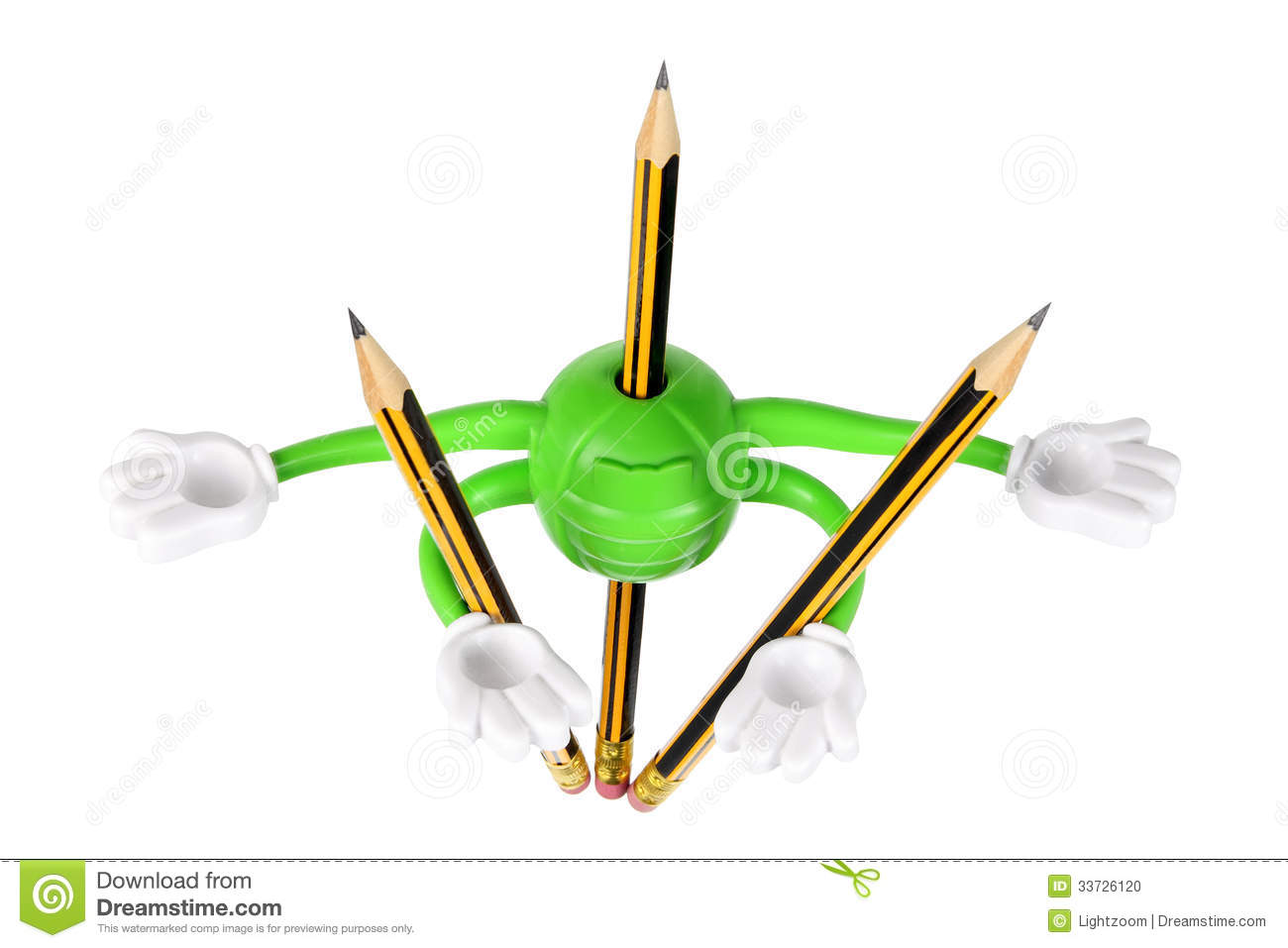 Pencil Holder Stock Photo Image 33726120