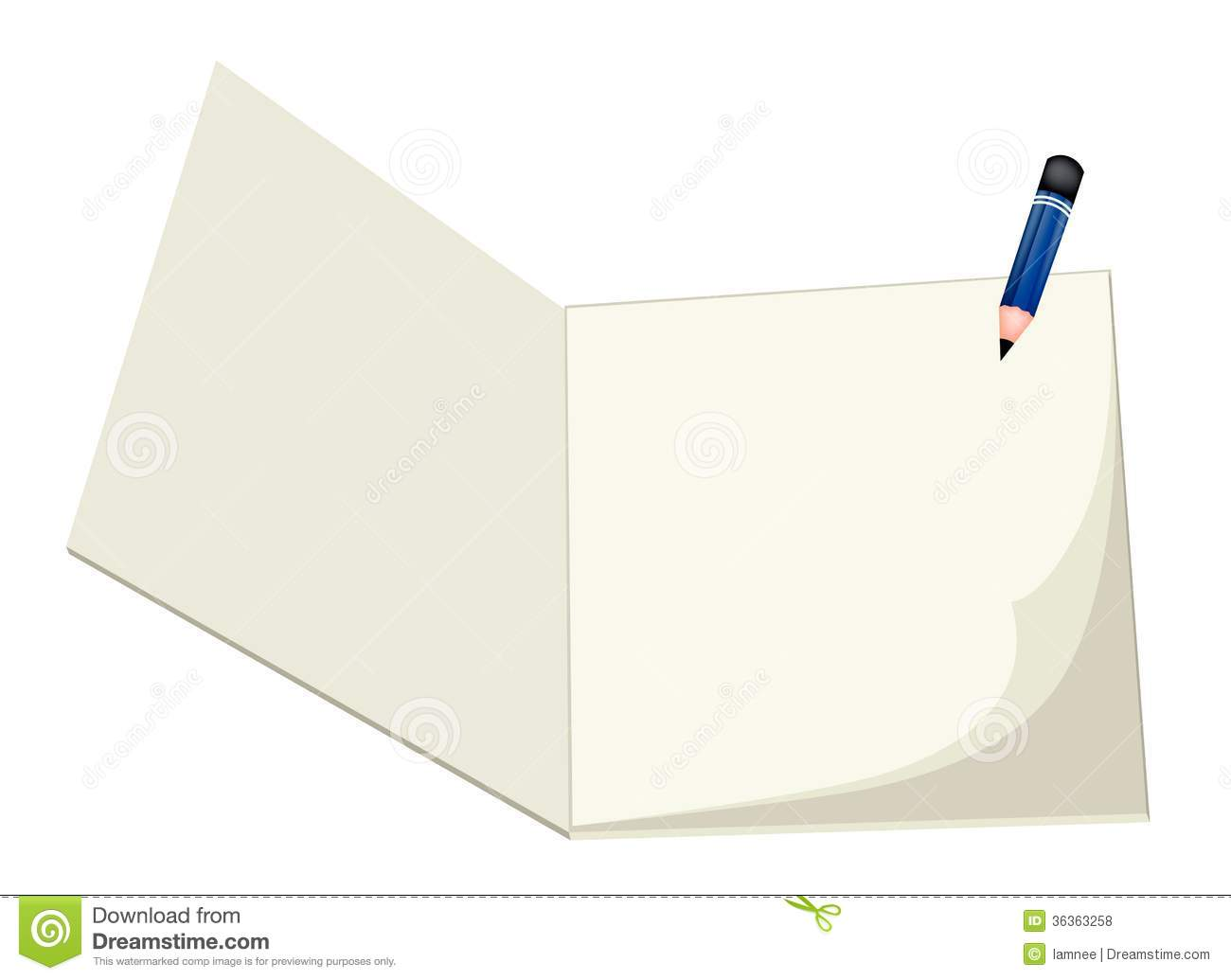 A pencil lying on a blank sketchbook royalty free stock for Sketchpad com
