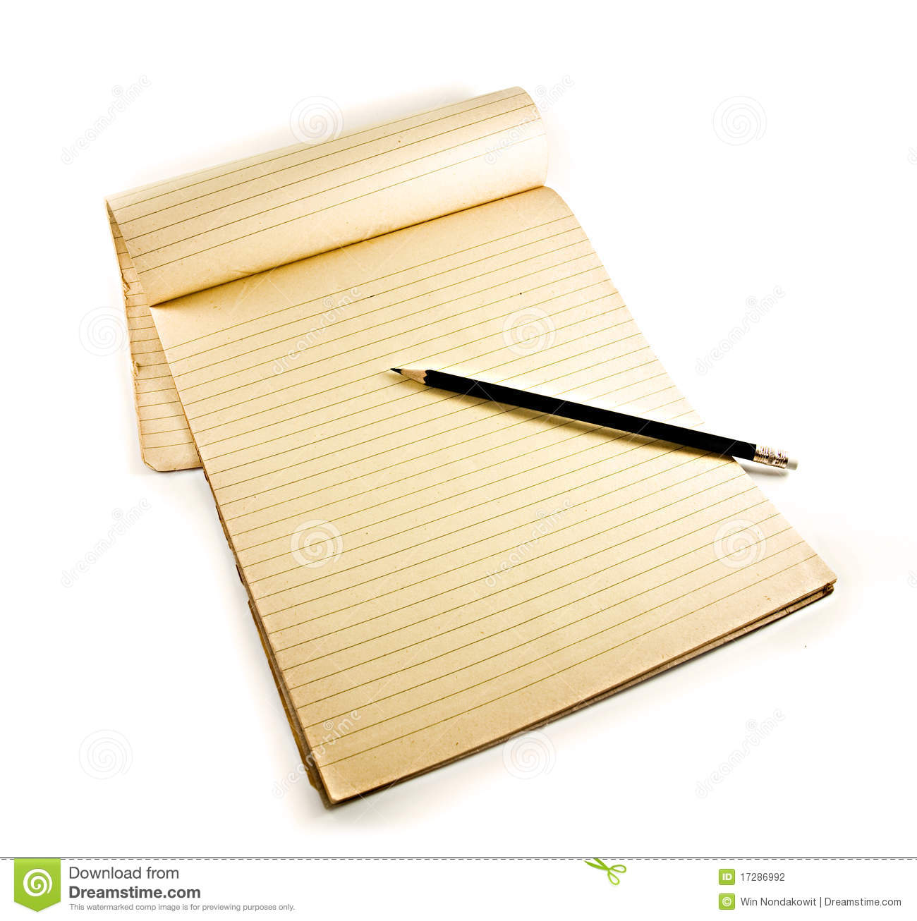 Pencil On Notebook Stock Photography Image 17286992