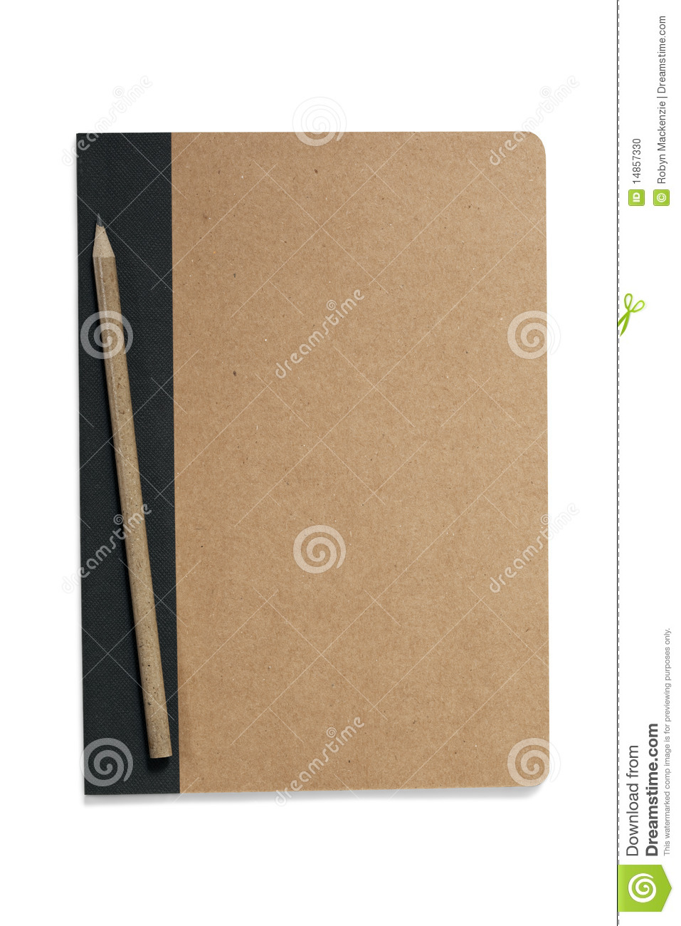 Pencil on Notepad (with Path)