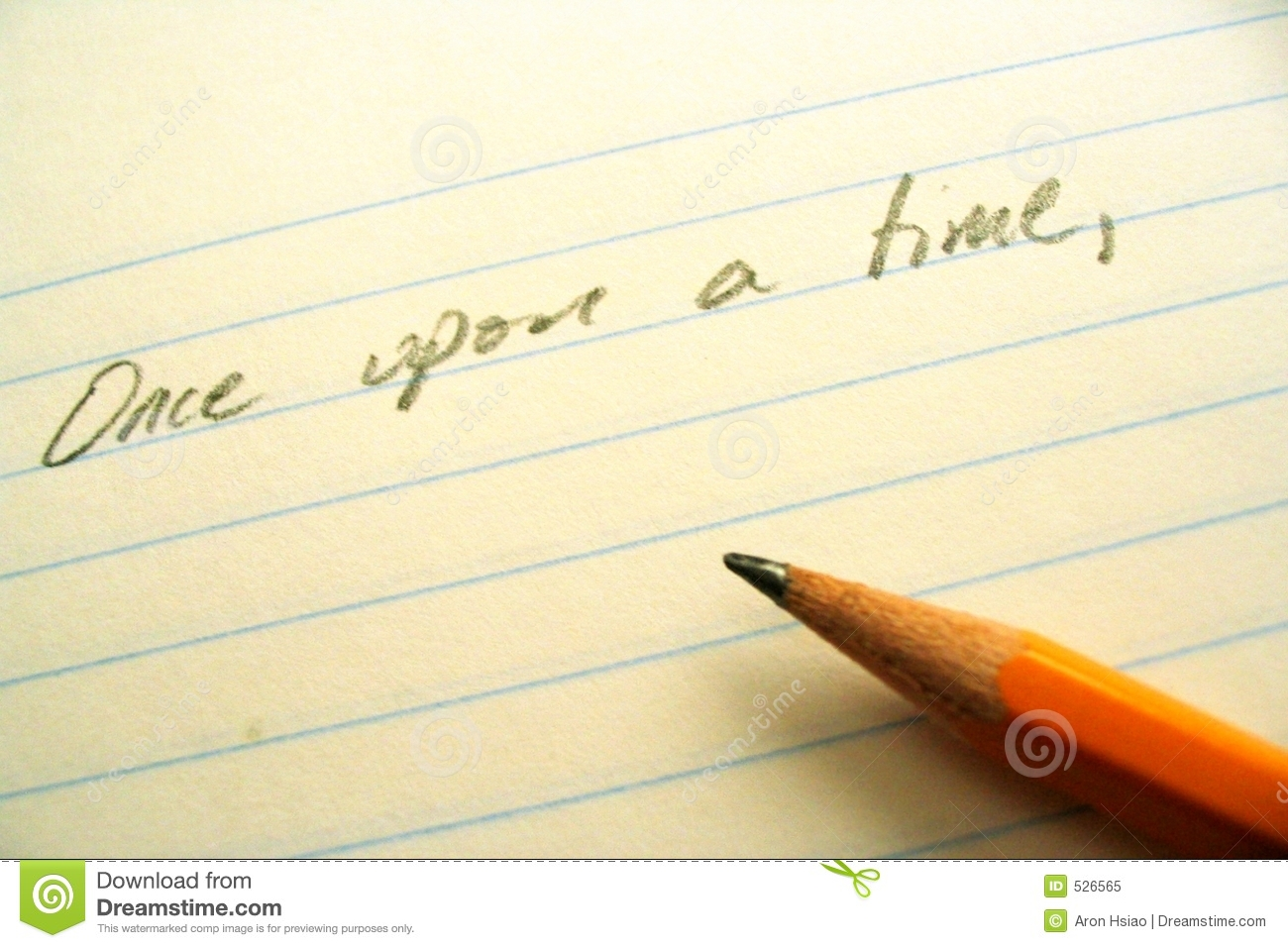 Pencil, Paper, And Opening Line Stock Images - Image: 526564